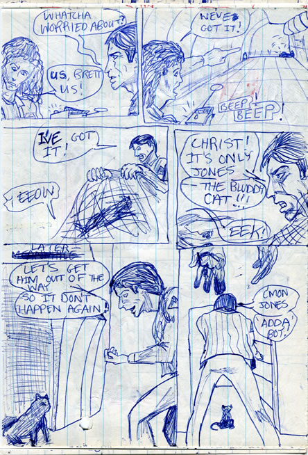 Brett draws the short straw and catches Jones - alien comic page