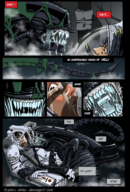 Ripley face to face with Giger's Xenomorph! - alien comic page