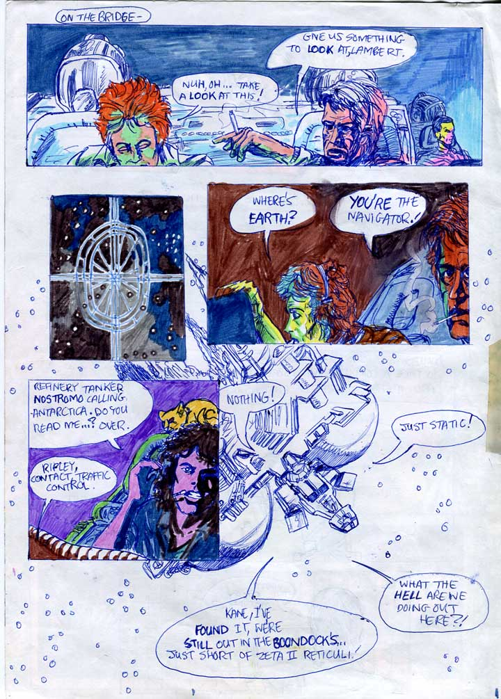 Nostromo's crew try to determine their location - alien comic page