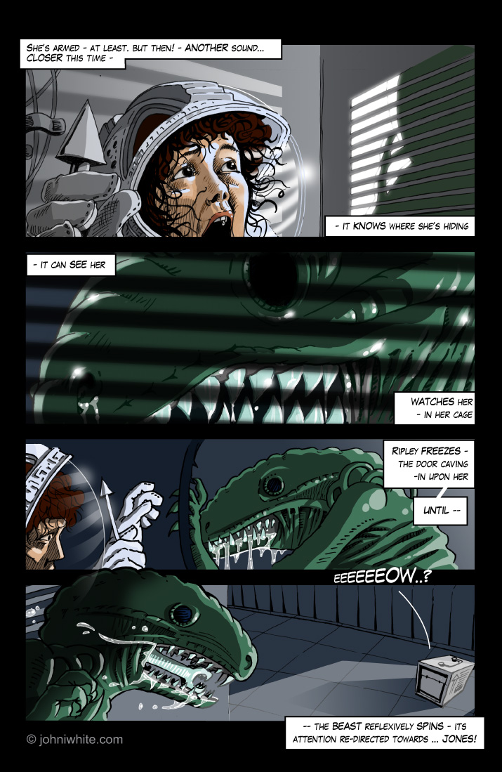 alien graphic novel page