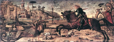 vittore carpaccio saint george and the dragon venice