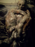 cocooned human by hr giger