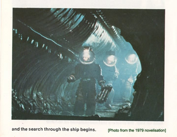 photo from the alien novelisation 1979