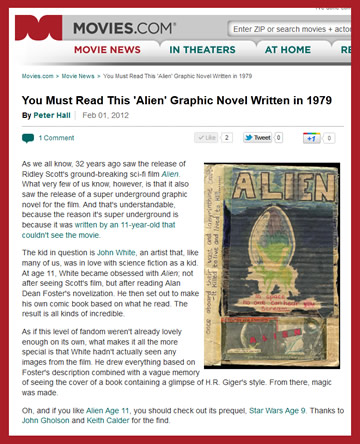 movies. com review of alien age 11 webcomic