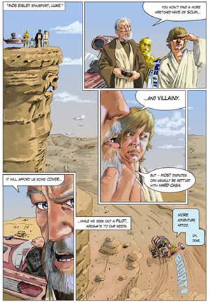 star wars age 9 comic page