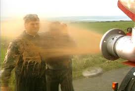 father ted getting sprayed with raw sewage